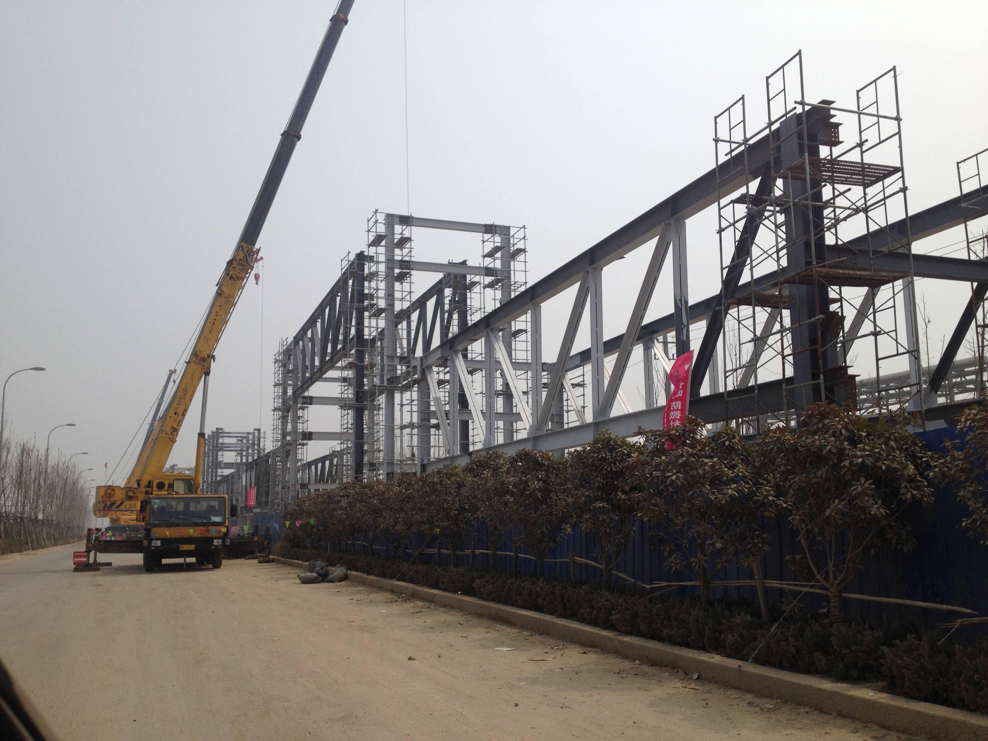 青岛开发区凤凰新能源汽车成套车间施工现场